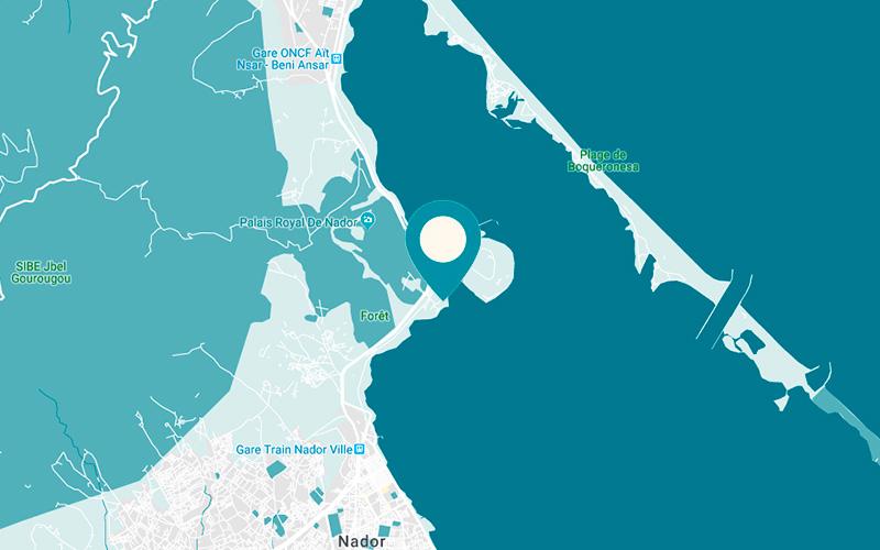 kaart van Nador